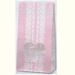 [業務用]バレンタイン 紙袋窓付き袋SS(小サイズ)50枚バレンタインデーのプレゼントやお菓子のラッピングに。おしゃれでかわいい柄の紙製の袋 バレンタインラッピングの激安の包装用品(袋/紙袋/チョコレートの包装/包装用品)