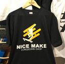 NiceMakeオリジナルTシャツロゴ黒【サイズ:XL】【メンズ】【レディース】【兼用】