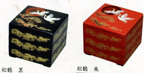 送料無料[業務用]お重箱 3段重(三段重)6.5寸松鶴 20個入り プラスチックの使い捨て重箱ですおせち...
