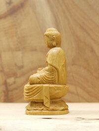 木彫り仏像〜薬師如来〜一刀彫/素材:柘植