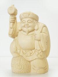 〜木彫り恵比寿大黒〜一刀彫/材料:桧(置物)