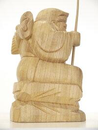 〜木彫り仏像恵比寿様〜仕様:無垢/素材:けやき