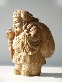 〜木彫り大黒様〜一刀彫/素材:けやき(置物)
