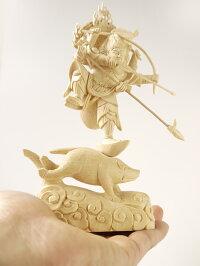 〜木彫り仏像摩利支天〜仕様:無垢/素材:桧