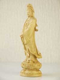 〜木彫り仏像聖観音〜仕様:無垢/素材:柘植