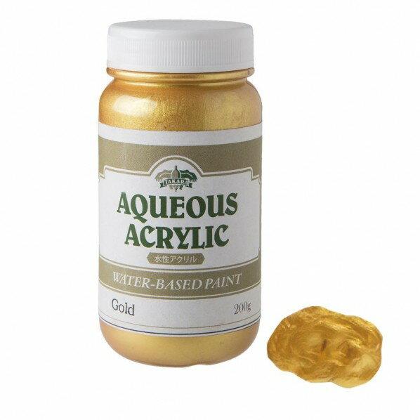 タカラ塗料 水性アクリルゴールド&メタリックペイント 200g ゴールド METAL_200g_Gold 1個