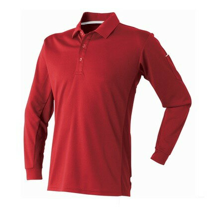 APEXWIN ベンチレーション長袖ポロシャツ レッド L 400-15