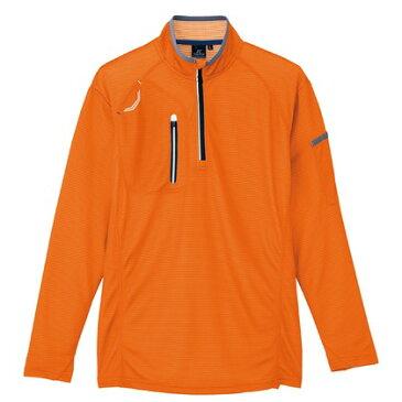 アイトス 長袖ハーフZIPシャツ(男女兼用) 163オレンジ S 10606-163-S