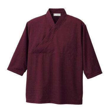 アイトス きもの衿ニットシャツ(男女兼用) 013ワイン M HS2900-013-M