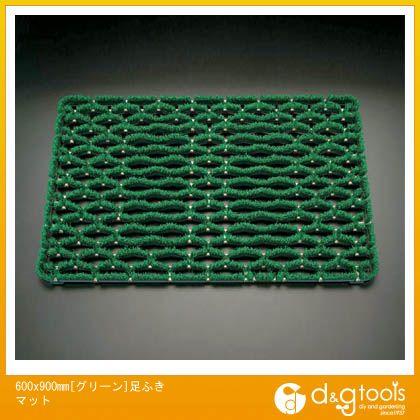 エスコ 600x900mm[グリーン]足ふきマット (EA997RX-1)