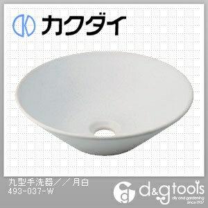 カクダイ 丸型手洗器 月白 493-037-W