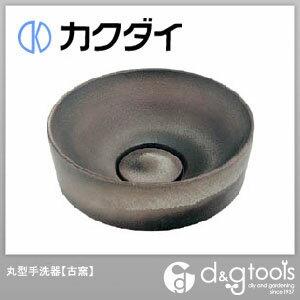 カクダイ 丸型手洗器 古窯 493-023-DG