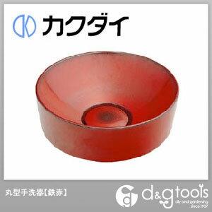 カクダイ 丸型手洗器 鉄赤 (493-023-R)