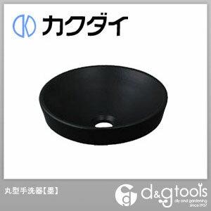 カクダイ 丸型手洗器 墨 493-012-D