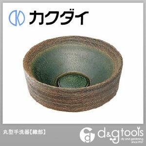 カクダイ 丸型手洗器 織部 493-024-FG