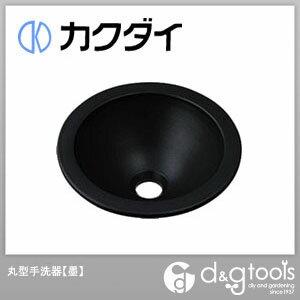 カクダイ 丸型手洗器 墨 493-013-D
