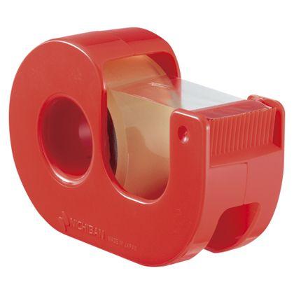 ニチバン セロテープ小巻カッター付 レッド (CT-18DRR)  文具・OA機器 文具・事務用品