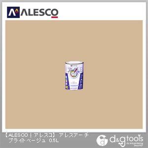 カンペハピオ アレスアーチ水性塗料つやけし多用途 0.5L ブライトベージュ