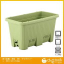 アップルウェアー 楽々菜園 深型プランター(植木鉢)  600 サラダグリーン 外径600×324×324mm