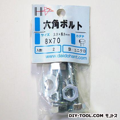 ダイドーハント HPユニクロ六角ボルト 8×70 シルバー 10186501