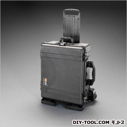 エスコ/esco 553x424x270mm/内寸防水ケース(黒/ウレタン無) EA657-161MN