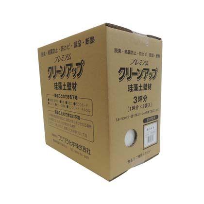 フジワラ化学 プレミアムクリーンアップ 珪藻土 壁材 3坪用 ホワイト 壁材 リフォーム diy 1箱