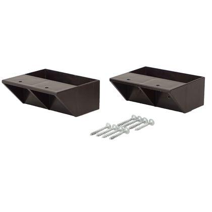 LABRICO(ラブリコ) 2×4材用棚受 シングル ブロンズ DXB-2 ツーバイフォー材 パーツ 2個入