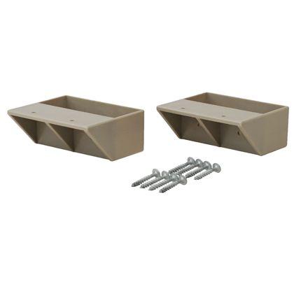 LABRICO(ラブリコ) 2×4材用棚受 シングル ナチュラルグレージュ(限定色) DXN-2 ツーバイフォー材 パーツ 2個入