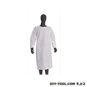 BIGMAN 不織布作業衣袖付エプロン 白 フリーサイズ (BNW-E)
