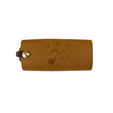 Workson WSC ディズニーレザーキーケース ブラウン H53×W115×D28(mm) 5セット