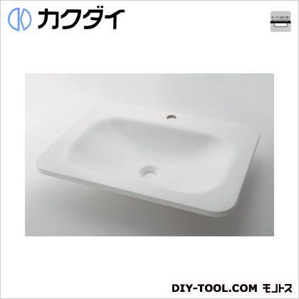 カクダイ 角型洗面器 ホワイト (#MR-493220W)
