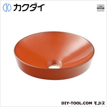 カクダイ 丸型手洗器 鉄赤 493-012-R