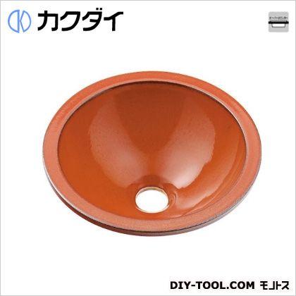 カクダイ 丸型手洗器 鉄赤 493-013-R