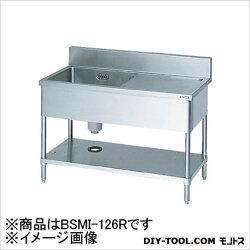 マルゼン一槽水切付シンク1200×600×800右側水切り(ホース付)(BSMI126R)