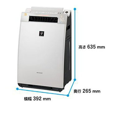 シャープ 加湿空気清浄機 ブラウン 幅×奥行×高さ:392×265×635mm KI-EX55-T