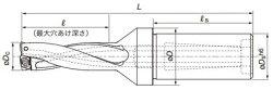 タンガロイTACドリル(TDX520W40-3)
