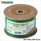 トラスコ(TRUSCO) PEグリーンロープ3つ打線径4mmX長さ50m 124 x 125 x 79 mm R-450PEG