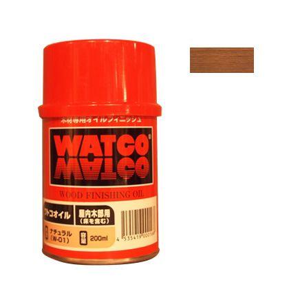 ワトコ社 ワトコオイル浸透性木材用塗料 ドリフトウッド 200ML W-11