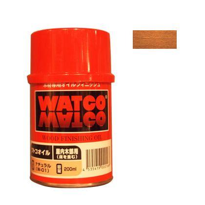 ワトコ社 ワトコオイル浸透性木材用塗料 ミディアムウォルナット 200ML W-12の写真