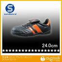 サンダンス 軽量スニーカータイプ安全靴 ブラック/オレンジ 24.0cm GT-3