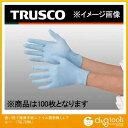 トラスコ 使い捨て極薄手袋ニトリル製粉無しLブルー TGL726NL 100 枚