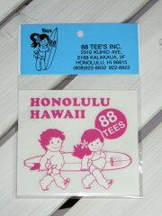 ハワイ人気NO,1♪88TEES88TEES(エイティエイティーズ)ステッカー・シール・ヤヤ&ククボード...