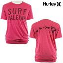 SURF-N-SEA(サーフアンドシー)HURLEY(ハーレー)【ハワイ限定】【Hawaii直輸入】【即日発送】HURLEY SURF HALEIWA TEEサーフアンドシー×ハーレーコラボTシャツPREMIUM・Hether Red・メンズ・サイズ:S-L