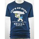 88TEES(エイティエイティーズ)メンズ・Tシャツネイビー×LET'S GO SURFサイズ:M・色白ヤヤ
