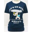 88TEES(エイティエイティーズ)レディース・Tシャツネイビー×LET'S GO SURF×ヤヤサイズ:M・色白ヤヤ