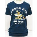 88TEES(エイティエイティーズ)レディース・Tシャツネイビー×SURFER GIRL×ヤヤサイズ:M・L・