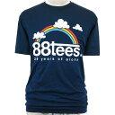 88TEES(エイティーエイティーズ)メンズ・Tシャツ・Anniversary29years of alohaNavy×Rainbowサイズ:M