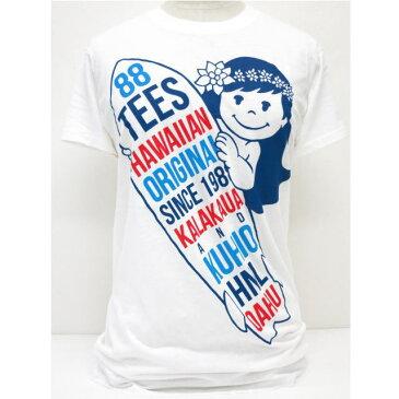 88TEES(エイティエイティーズ)レディース・TシャツWhite×サーフボード×ヤヤサイズ:M