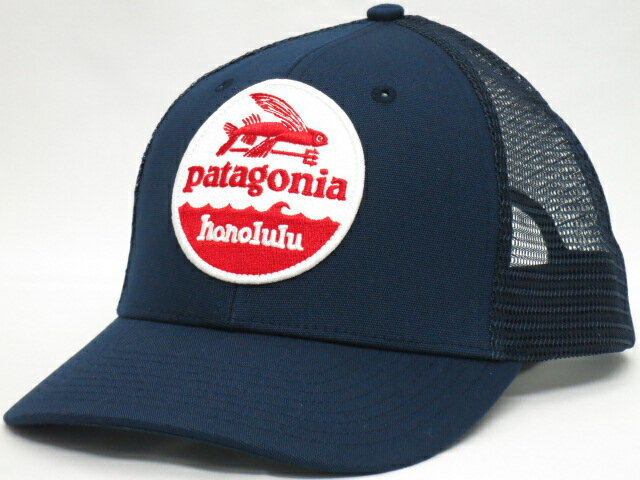 Patagonia パタゴニア【ハワイ限定・ Hawaii直輸入】HAT PATCH TRUCKERHAT,HONOLULUキャップ ・スナップバックNAVY/WHITE/RED・