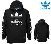 adidas Originals アディダス オリジナルス【パーカー】【プルオーバー】【USAモデル】【送料無料】【即日発送】ADIDAS ORIGINALS TOKYO FLEECE HOODIETREFOIL・Black/White・メンズ・ユニセックス